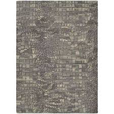 super indo natural castle manor greystone 6 ft x 8 ft area rug greystone