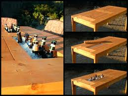cooler table view in gallery patio table with wine cooler wonderful patio table with built in