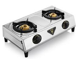 gas stove. Butterfly Ace 2 Burners Stainless Steel Gas Stove