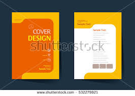 brochure design vector template in a4 size annual report abstract book cover simple