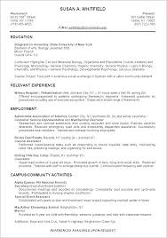 Resume Template Student College Example Of A Student Resume Wikirian Com