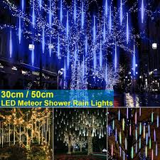Led Icicle Drip Lights In Motion Details About 8 Falling Rain Drop Icicle Snow Fall String Led Cascading Xmas Tree Lights Decor