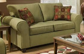 Olive Green Accessories Living Room Fabric Modern Casual Sofa Loveseat Set W Throw Pillows