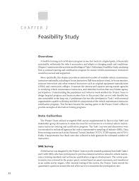 Sample Feasibility Report Chapter 24 Feasibility Study A National Training And 4