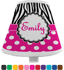 zebra print polka dots chandelier lamp shade personalized
