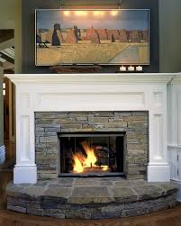 When designing a fireplace such as this, how do you determine the best  dimensions for your stone and wood surround? I have a 36 inch wide by 28  inch .