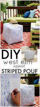diy furniture west elm knock. DIY West Elm Inspired Striped Pouf Diy Furniture Knock E