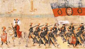 rulon polski ok 1605r fragment milicja miasta stradomia źródło