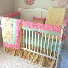 harmonious shabby chic crib per fresh fl bedding pleasing cribs