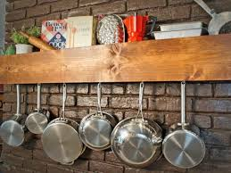 build a storage shelf that doubles as a pot and pan rack