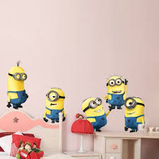 Minion Bedroom Decor 5 Minions Despicable Me Removable Wall Stickers Decal Home Decor