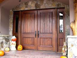double front doors. Double Door Entry Rustic Exterior Entrance With Solid Dark Varnished Finishing Design . Front Doors