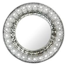 lulu decor 19 oriental round silver metal beveled wall mirror decorative mirror for home office com