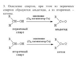 Презентация по химии на тему Альдегиды и кетоны  Окисление спиртов при этом из первичных спиртов образуются альдегиды а и