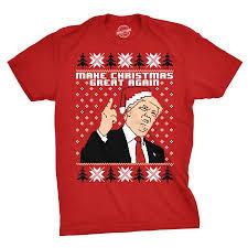 To Make Shirts Mens Make Christmas Great Again Trump In Santa Hat Funny Ugly Xmas T Shirt