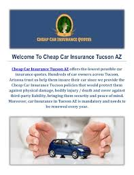 Car Insurance Quotes Az Enchanting Cheap Car Insurance In Tucson