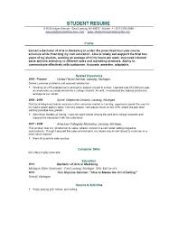 Examples Of Resumes For College Example Of College Resume For