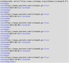 exle xml sitemap index