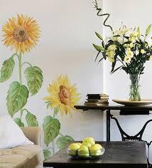 vinyl sunflower wall sticker by home decor line