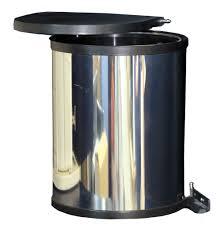 Kitchen Waste Bin Door Mounted Rectangular Hinged Bin Door Mounted Slim Integrated Bins