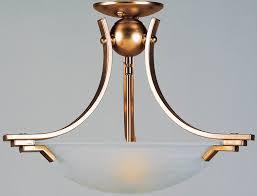 art deco reproduction lighting. art deco style antique brass semi flush 2 lamp ceiling light reproduction lighting