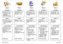 Weekly Lunch Menu Template Daycare Templates Free Documents