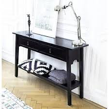 Vintage Console Table Furniture Shabby Chic Black Wooden Cabinet 2