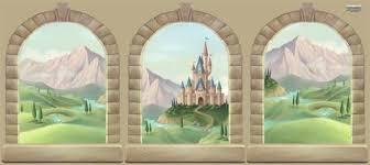 castle window mural 117 99 princess wall stickers on castle wall art mural with princess castle wall decals murals