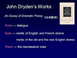john bunyan  born in a tinker s family  became a  11 john dryden s works an essay of dramatic poesy