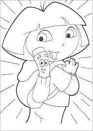 dora coloring page free coloring pages the explorer map backpack coloring page dora the explorer coloring