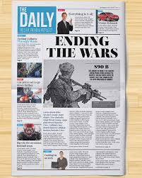 Newspaper Front Page Template Indesign Free Newspaper Template Psd Under Fontanacountryinn Com