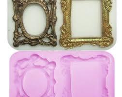 mirror frame. 3D Mirror Frame Silicone Mold
