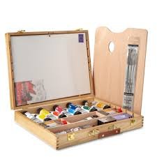 daler rowney cryla acrylic paint deluxe wooden box set selected art sets half special offers jackson s art supplies