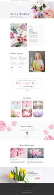 Artist Website Templates Amazing Moon Flower Flower Shop WordPress Theme Wordpress Themes