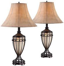 traditional table lamps set of 2 brushed iron urn for living room bedroom