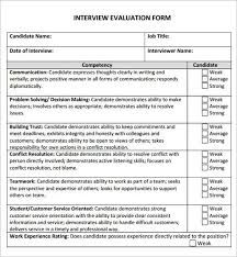 interview assessment form template 9 best interview evaluations images on pinterest interview