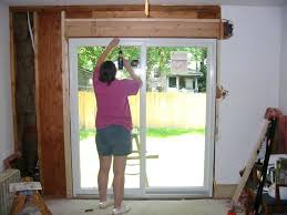 replace patio door impressive on install patio door installing a sliding glass door exterior decorating ideas