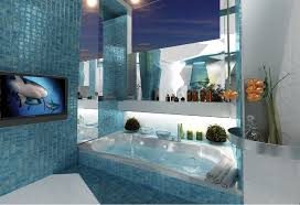 small tv for bathroom. Dimensions Of Make A Small Bathroom Look Bigger With Blue Wall Ceramic Tiles And TV On Tv For :