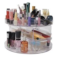 details about new versatile rotating glam beauty caddy cosmetic organizer make up box holder