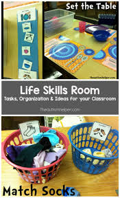 17 best ideas about life skills classroom life tips tricks for setting up a life skills room to help teach students autism