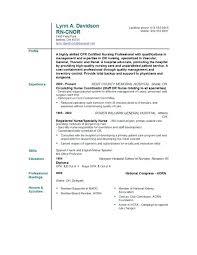 Registered Nurse Resume Sample Format Best Nursing Resume Samples ...