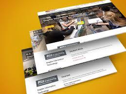 Asu Graphic Design Asu Graphic Information Technology Website On Behance
