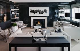 black lacquer furniture paint. haus interior living room black lacquer glossy wall paint chevron pillows upholstered lounge chairs white sofas fireplace modern art 2 furniture f