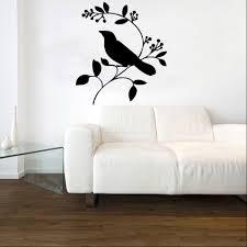 love bird on a branch vinyl wall art