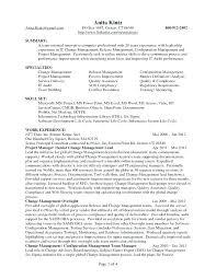 Sample Management Specialist Resume Change Management Specialist Sample Resume Podarki Co