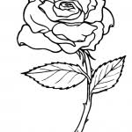 Small Picture Rose Coloring Pages For Kids ColoringPagehub