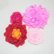 Homemade Paper Flower Decorations Giant Crepe Paper Flowers For Wedding Event Backdrop Decor