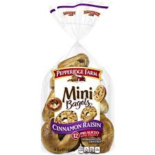 pepperidge farm mini cinnamon raisin bagels