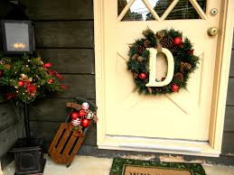 initial wreaths for front doorSensational Outdoor Home Accessories For Christmas Design