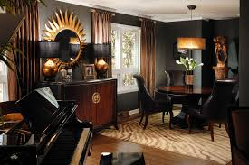 Interior Designer Decorator Dramatic Black Gold and Brown Rooms YouTube 75